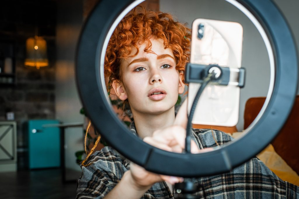 using a ring light for in-house photography